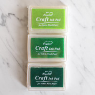 Oil Based Stamp Ink Pad, Greens