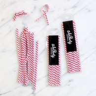 Stripe Twist Ties, Red - Pack of 25