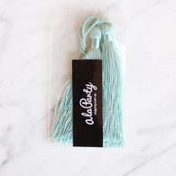 Mini Satin Tassels, Aqua Blue- Pack of 2