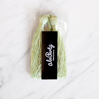 Mini Satin Tassels, Celadon Green- Pack of 2