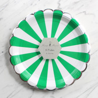 Meri Meri Toot Sweet Green Large Plates - Pack of 8