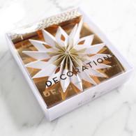 Meri Meri Gold Snowflake Mini Garland