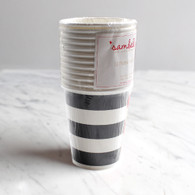Sambellina Black Stripe Cups - Pack of 12