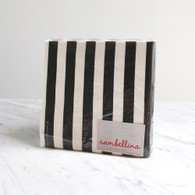 Sambellina Black Stripe Napkins - Pack of 20