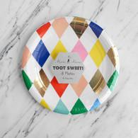 Meri Meri Toot Sweet Harlequin Cake Plates - Pack of 8