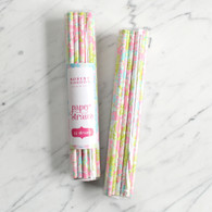 Floral Isabel Paper Straws by Robert Gordon - Pack of 24