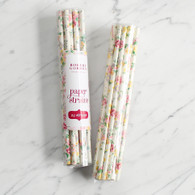 Floral Rose Paper Straws by Robert Gordon - Pack of 24