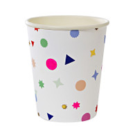 Meri Meri Toot Sweet Neon Confetti Charms Cups - Pack of 8
