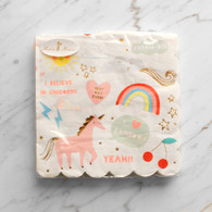 Meri Meri Toot Sweet Rainbow & Unicorn Napkins - Pack of 16