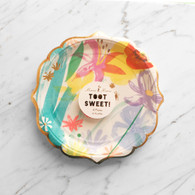 Meri Meri Toot Sweet Painted Flowers Cake Plates - Pack of 8
