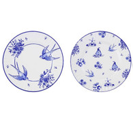 Talking Tables Party Porcelain Blue Large Plates - Pack of 8
