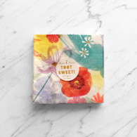 Meri Meri Toot Sweet Painted Flowers Cocktail Napkins - Pack of 16