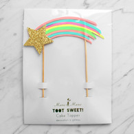 Meri Meri Toot Sweet Rainbow Shooting Star Cake Topper