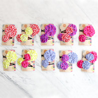 Seedling Yo Yo Fabric Hair Clips - Set of 2