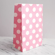 Baby Pink Polka Dot Stand-Up Treat Bags - Pack of 12