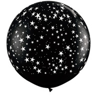 "36"" Giant Balloon Onyx Black with Stars"