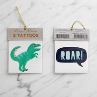 Meri Meri Dinosaur Roar Tattoos - Pack of 2