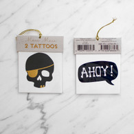 Meri Meri Skull & Ahoy Pirate Tattoos - Pack of 2