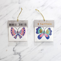 Meri Meri Sparkly Butterfly Tattoos - Pack of 2