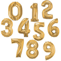 "38"" Giant Gold Foil Number Balloon, Choose Your Number, Pack of 1"