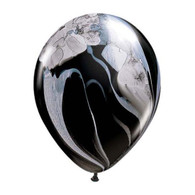 "Qualatex Agate Latex Balloon 11"", Black Marble - Pack of 5"