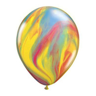 "Qualatex Agate Latex Balloon 11"", Rainbow Marble - Pack of 5"