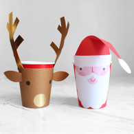 Meri Meri SANTA & REINDEER CHRISTMAS CUPS - Pack of 8