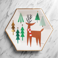 Meri Meri VERY MERRY SANTA & TREES Reindeer Plates - Pack of 8