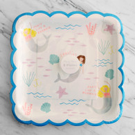 Meri Meri Let's Be Mermaid Large Plates - Pack of 8