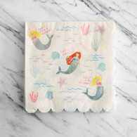 Meri Meri Let's Be Mermaid Large Napkins - Pack of 16
