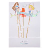 Meri Meri Let's Be Mermaid Cake Toppers - Pack of 4