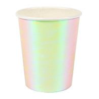 Meri Meri Let's be Mermaid iridescent Pink Foil Paper Cups - Pack of 8