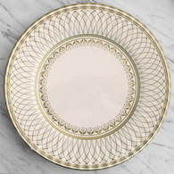 Talking Tables Party Porcelain Gold Large Plates - Pack of 8