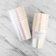 Talking Tables Iridescent Pastel Pink Paper Cups - Pack of 12