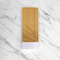 Meri Meri Gold Foil Paper Straws - Pack of 24