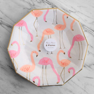 Meri Meri Flamingo Large Plates - Pack of 8