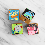 Robot Wooden Pencil Sharpeners - Pack of 4