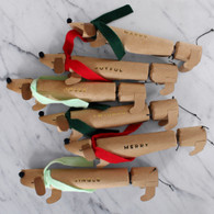 Meri Meri Sausage Dog Christmas Crackers, Pack of 6