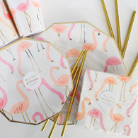 Meri Meri Flamingo Cake Plates - Pack of 8