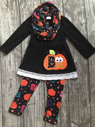 Halloween 3-Piece Sets - PUMPKIN