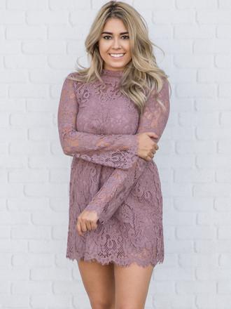 Chic Mini Lace Dress