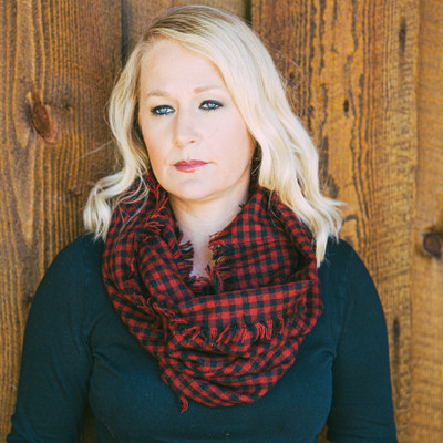 Plaid Infinity Scarf - Black/Red Check