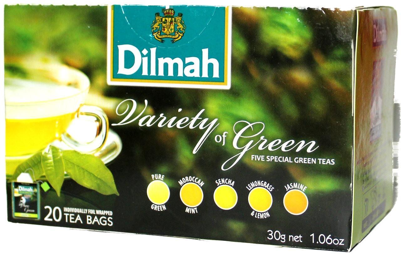 Dilmah Variety Of Green Tea 20 Bags Lankandelight
