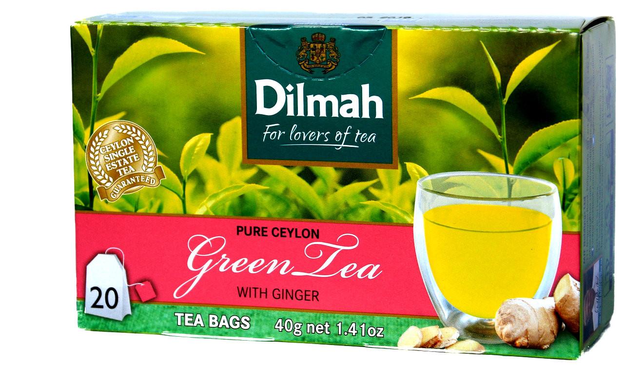 Dilmah green tea with ginger 20 tea bags lankandelight image 1 izmirmasajfo