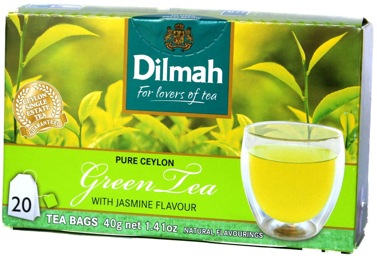 Dilmah Green Tea With Natural Jasmine Flavoured 20 Tea Bags