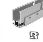 "Dual Rack - Standard Rail 168"" - Clear"