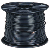 Building Wire, THHN, 10 AWG, Black, 500 ft