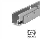 "Dual Rack - Lite Rail- 204"" - clear"