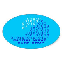 DWSS Logo Sticker (Arial Blue)