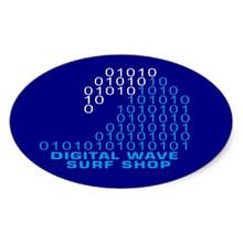 DWSS Logo Sticker (Arial Bright Blue)